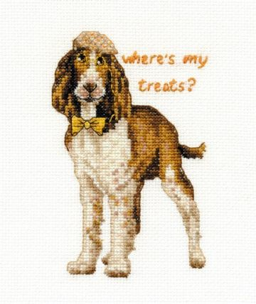 DMC Springer Spaniel - Where`s My Treats  BK1578 Cross Stitch Kit